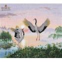 Танцующие журавли Набор для вышивания Овен 1340