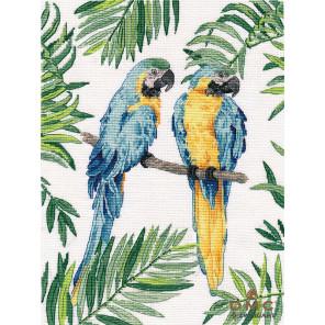 Сине-желтые ара Набор для вышивания Овен 1348