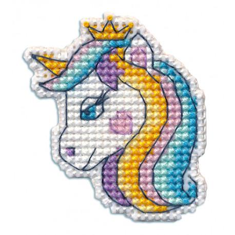 Единорог 2. Значок Набор для вышивания Овен 1350