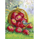 Наливные яблочки Набор для частичной вышивки бисером Паутинка Б-1299
