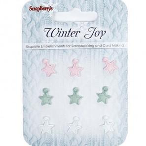Звездочки Зимнее утро Набор декоративных брадсов Scrapberry's