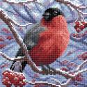 Снегирь Алмазная вышивка мозаика BrilliArt МС-002