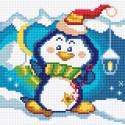 Танцующий пингвиненок Алмазная вышивка мозаика Алмазное Хобби AH5379