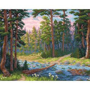 Лесная речка Алмазная вышивка мозаика BrilliArt МС-003