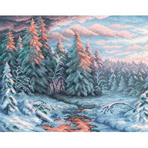 Зимний закат Алмазная вышивка мозаика BrilliArt МС-004