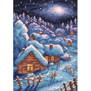 Зимний пейзаж Алмазная вышивка мозаика BrilliArt МС-005