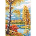 Осенний пейзаж Алмазная вышивка мозаика BrilliArt МС-010