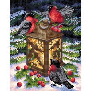 Тепло зимы Алмазная вышивка мозаика BrilliArt МС-019