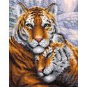 Тигры Алмазная вышивка мозаика BrilliArt МС-020