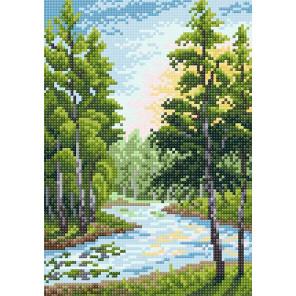 Летний пейзаж Алмазная вышивка мозаика BrilliArt МС-022