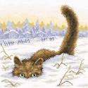 Кот в снегу Алмазная вышивка мозаика BrilliArt МС-033