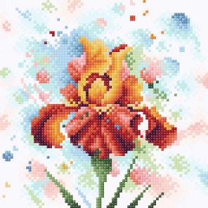Пример оформления в рамку Страстное очарование Алмазная вышивка мозаика BrilliArt МС-038