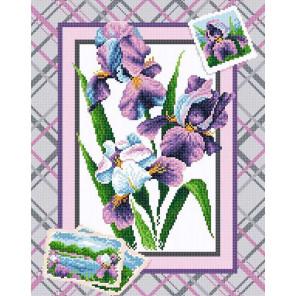 Букет ирисов Алмазная вышивка мозаика BrilliArt МС-040