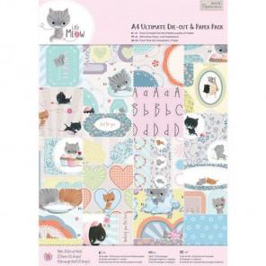 Little Meow А4 Набор бумаги с высечкой для скрапбукинга, кардмейкинга Docrafts