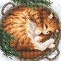 Зима в лукошке Алмазная вышивка мозаика BrilliArt МС-043