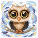Трогательная совушка Алмазная вышивка мозаика BrilliArt МС-047