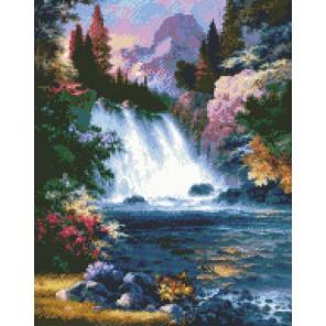 Водопад Алмазная вышивка (мозаика) Гранни