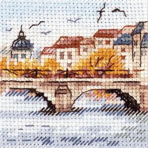 Осень в городе. Чайки над мостом Набор для вышивания Алиса 0-216