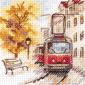 Осень в городе. Трамвай Набор для вышивания Алиса 0-217