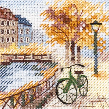 Осень в городе. Набережная Набор для вышивания Алиса 0-219