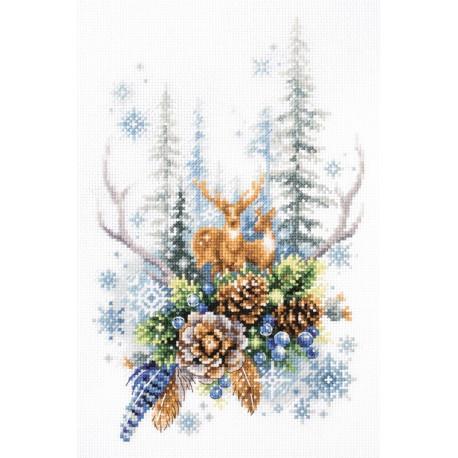 Дух зимнего леса Набор для вышивания Чудесная игла 200-017