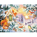 Зимнее утро Набор для вышивания Чудесная игла 110-700
