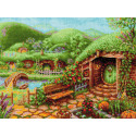 Зеленые холмы Набор для вышивания Риолис 1904