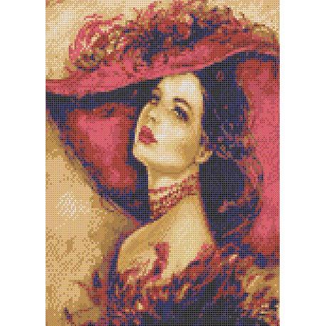 Дама в шляпе Набор для вышивания Каролинка КТКН 167