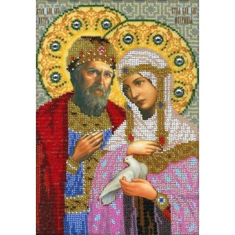 Святые Петр и Феврония Муровские Набор для вышивки бисером Вышиваем бисером L-2