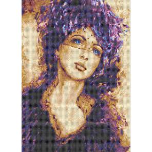 Девушка под вуалью Ткань с рисунком для вышивки бисером Каролинка ТКБЛ(Э) 3052