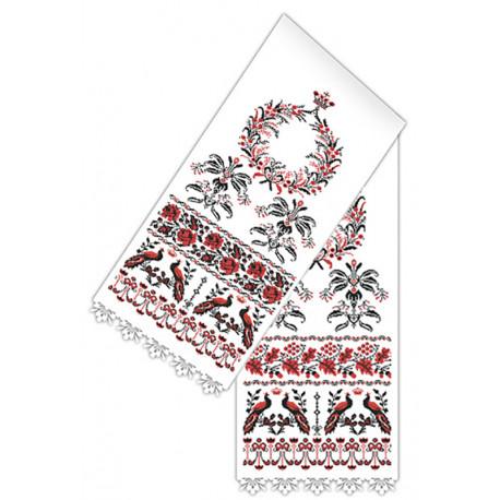 Рушник свадебный традиционый Набор для вышивания Каролинка КРКН-2027