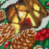 Рождественский фонарик Набор для частичной вышивки бисером Паутинка Б-1495