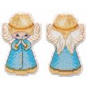 Ангел Набор для вышивания ёлочной игрушки Овен 1363