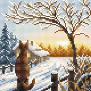 Рассвет в деревне Алмазная вышивка мозаика BrilliArt МС-054