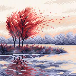 Красная осень Алмазная вышивка мозаика BrilliArt МС-055