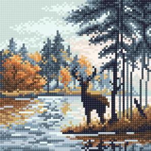 Олень в лесу Алмазная вышивка мозаика BrilliArt МС-056