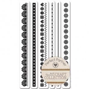 Бордюры Craft Collection Набор штампов для скрапбукинга, кардмейкинга Docrafts