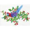 Попугай на ветке Канва с рисунком для вышивки МП Студия СК-107