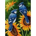Птицы в цветах Алмазная вышивка мозаика на магнитной основе V-126