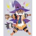 Кот и чашка кофе Раскраска картина по номерам на холсте с неоновыми красками AAAA-RS073-80x100