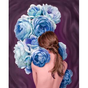 Пример выложенной работы Цветочное созвучие Алмазная мозаика вышивка Гранни AG2522