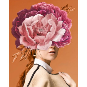 Пример выложенной работы Цветочная симфония Алмазная мозаика вышивка Гранни AG2526