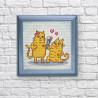 Кошачья романтика Алмазная мозаика вышивка Гранни AG2529