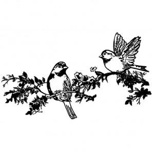 Птицы Штамп на резиновой основе для скрапбукинга, кардмейкинга Stamperia