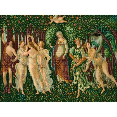 Весна С.Ботичелли Ткань с нанесенным рисунком для вышивки бисером Конек 1354