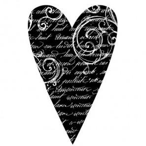 Сердце Штамп на резиновой основе для скрапбукинга, кардмейкинга Stamperia