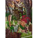 Селфи с Бабой Ягой Ткань с нанесенным рисунком для вышивки бисером Конек 1363