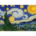 Звездная ночь. Ван Гог Ткань с нанесенным рисунком для вышивки бисером Конек 8499