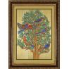 Пример оформления в рамку Дерево жизни Ткань с нанесенным рисунком для вышивки бисером Конек 8500