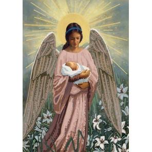 В руках ангела Ткань с нанесенным рисунком для вышивки бисером Конек 8505